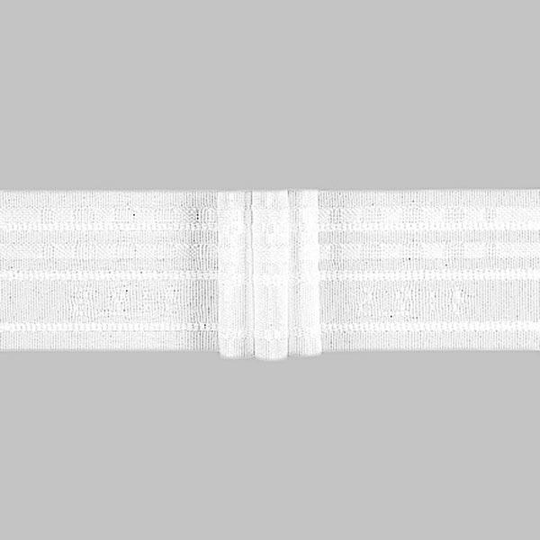 Ruban plissé 3x, 50 mm – blanc | Gerster