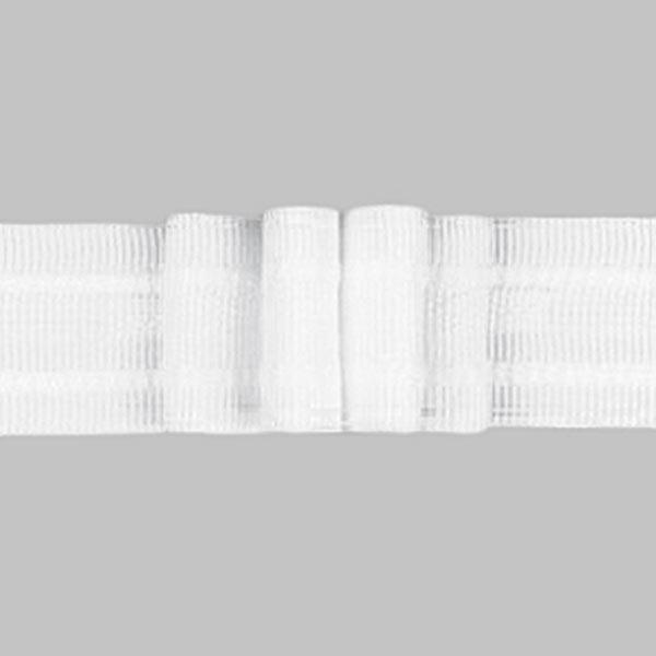 Ruban plissé 4x, 26 mm – blanc | Gerster