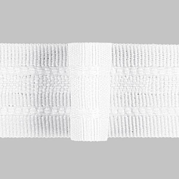 Ruban plissé 1x, 26 mm – blanc | Gerster