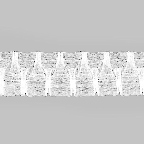 Ruban smocké 1:2,5 (50mm) – transparent | Gerster