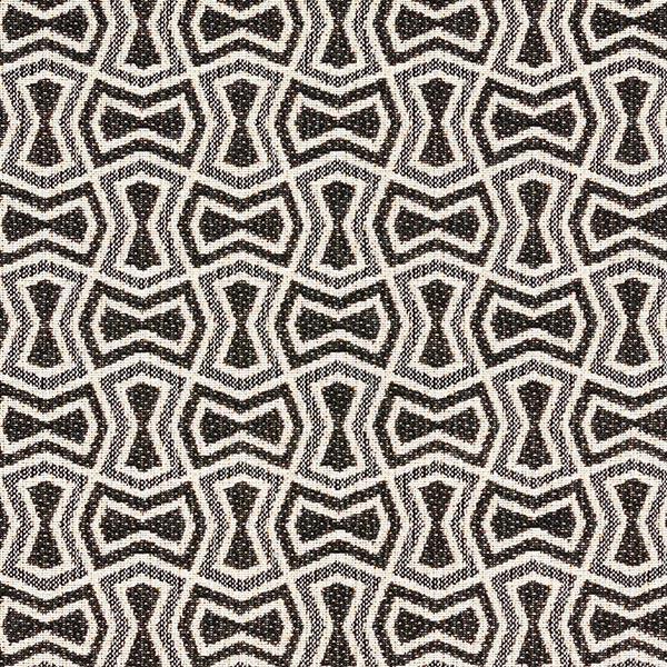 Tissu de décoration et d'ameublement Jacquard Abstract – noir/crème