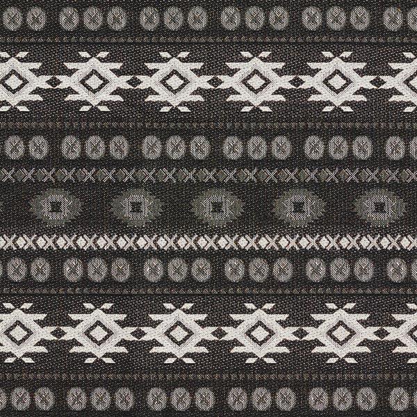Deko- und Möbelstoff Jaquard Etnico – schwarz