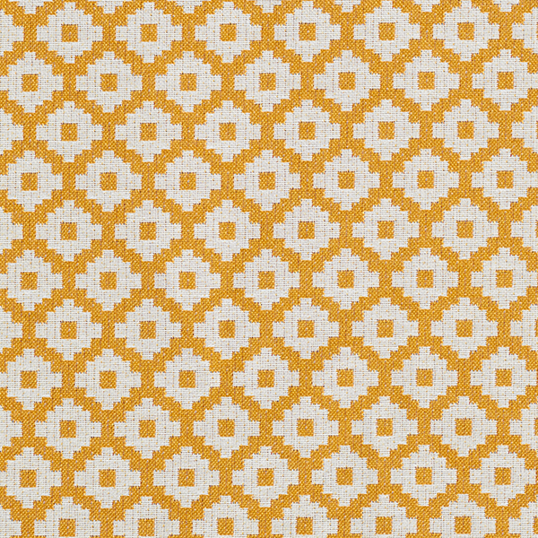 Tissu de décoration d'extérieur  Losanges – moutarde