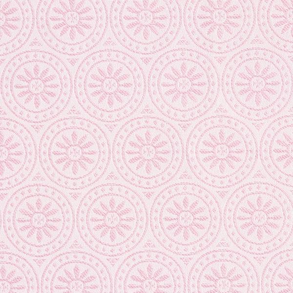 Outdoor Dekostoff Jacquard Kreis-Ornamente – rosa/wollweiss