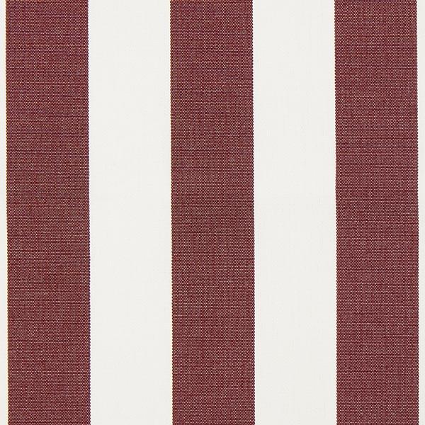 Tissu d'extérieur Stores Rayures Toldo – blanc/rouge bordeaux
