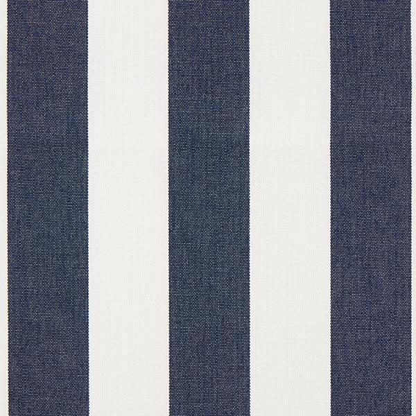 Tissu d'extérieur Stores Rayures Toldo – blanc/bleu marine