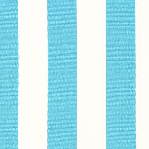 Tissu d'extérieur Stores Rayures Toldo – blanc/turquoise