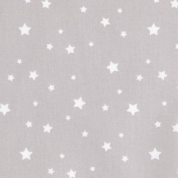 Beschichteter Baumwollstoff Sterne – grau