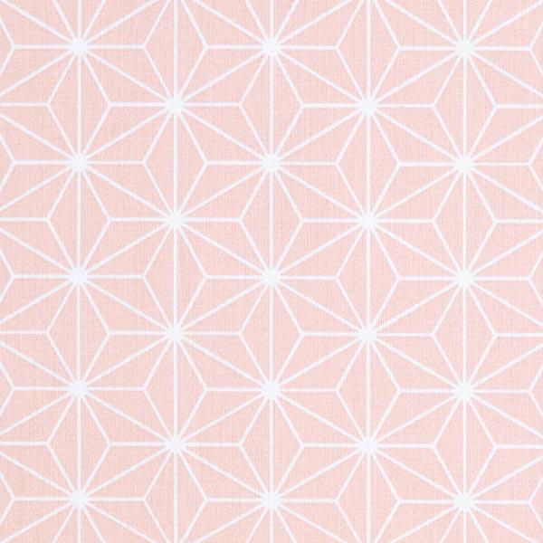 Cretonne Étoiles japonaises «Asanoha» – rose