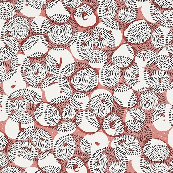 Jersey coton Grandes fleurs – vieux rose