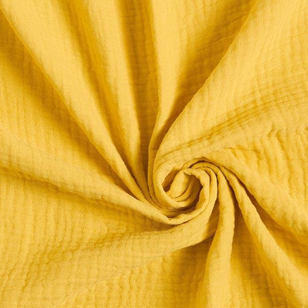 Tissu triple gaze de coton – jaune