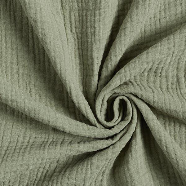 Dreilagiger Baumwoll-Musselin – schilf