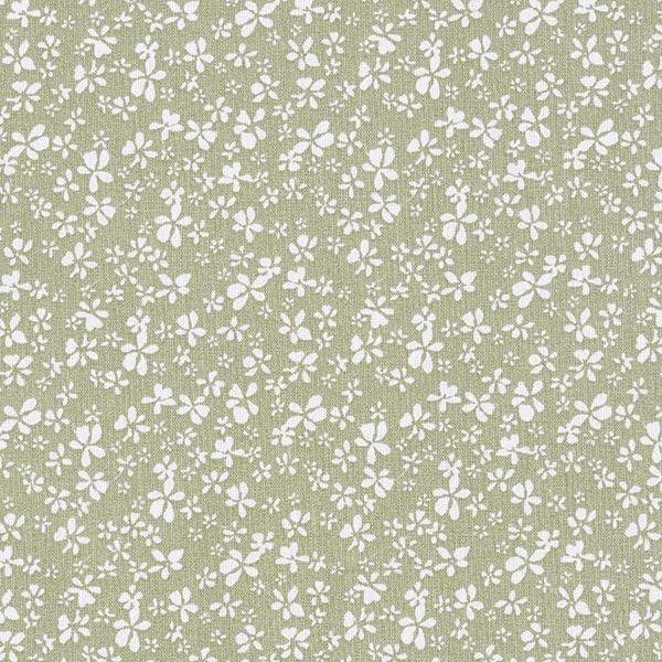 Tissu en coton Cretonne Petites fleurs – kaki