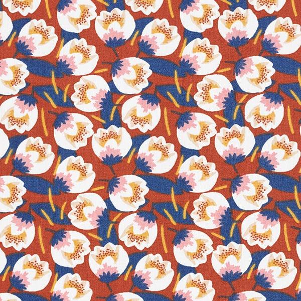Baumwollstoff Cretonne Tulpen – terracotta