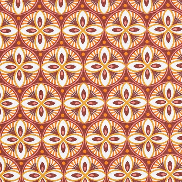 Tissu de décoration Cretonne Mandala – rouge bordeaux