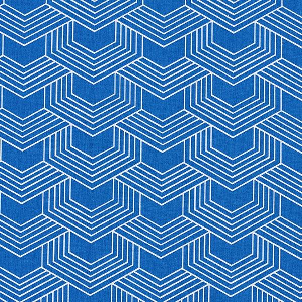 Tissu en coton Cretonne Graphique – bleu