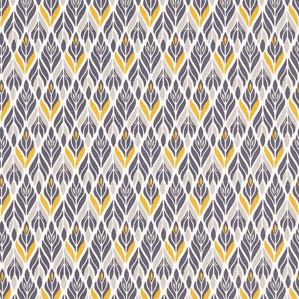 Tissu en coton Cretonne ornements – gris schiste/curry