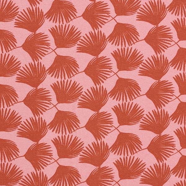Tissu fin en viscose Branche de palmier – saumon/homard