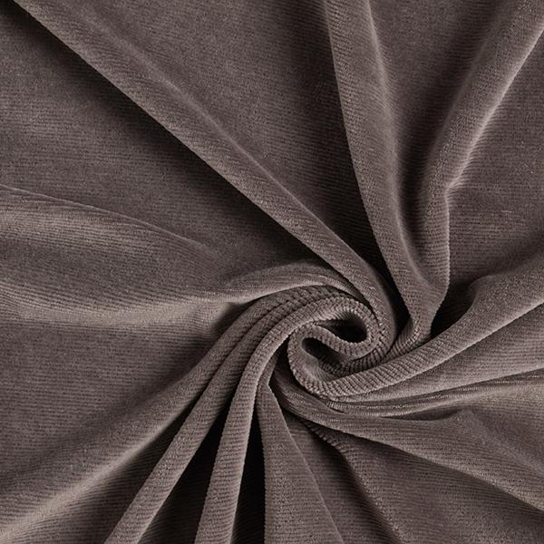 Velours à côtes fines jersey – gris