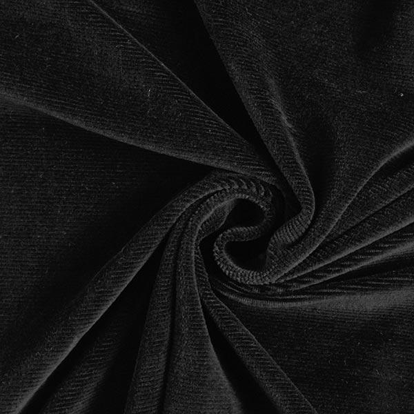 Jersey Feincord – schwarz