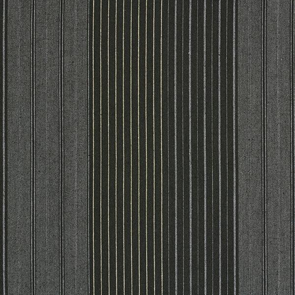 Stretch pour pantalon Coton Rayures – noir
