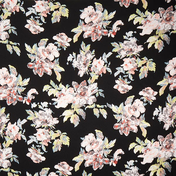 Jacquard Fleurs – noir