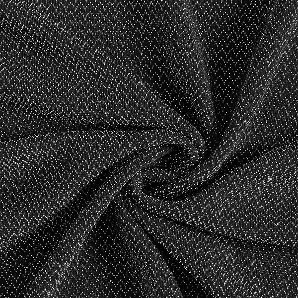 Jersey scintillant Zigzag – noir/argent