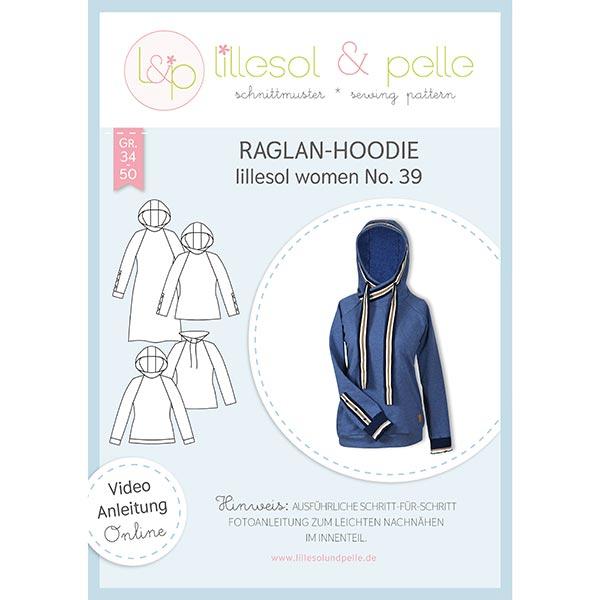 Hoodie raglan, Lillesol & Pelle No. 39 | 34 – 50