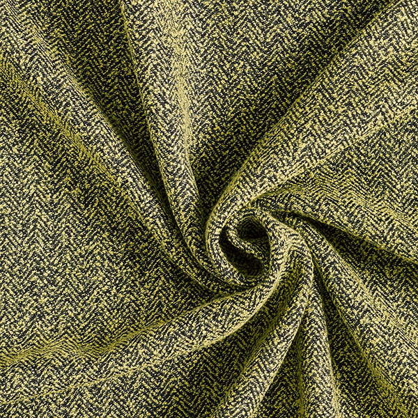 Tissu pour costume Chevron aspect maille – jaune/noir
