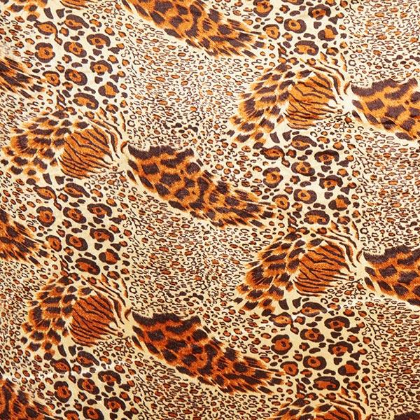 Panne de velours Léopard - tigre – beige/marron