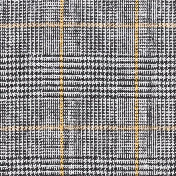 Mélange laine vierge Carreaux glencheck Harry – noir/jaune