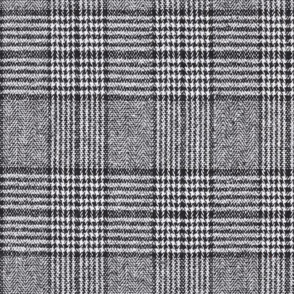 Mélange laine vierge Carreaux glencheck James – noir/beige