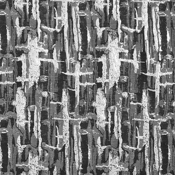 Brocart Motif abstrait – noir/argent