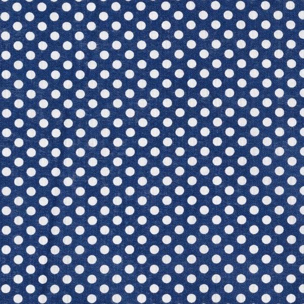 Popeline coton Pois moyens – bleu marine/blanc