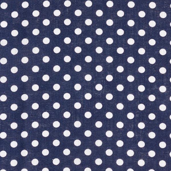 Popeline coton Grands pois – bleu marine/blanc