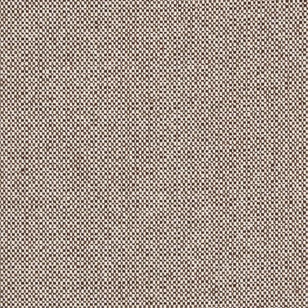 Tissu pour pantalon et costume Tissu de laine Tweed damier – marron foncé/blanc