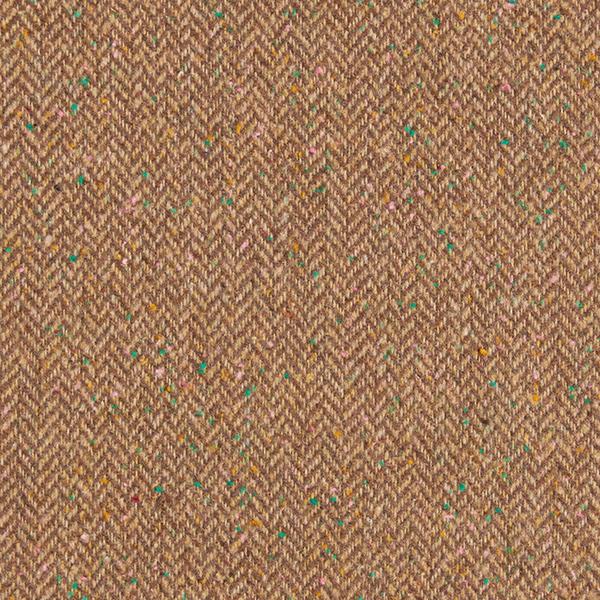Tissu pour manteau Mélange de laine Aspect tweed arêtes de poisson – marron clair