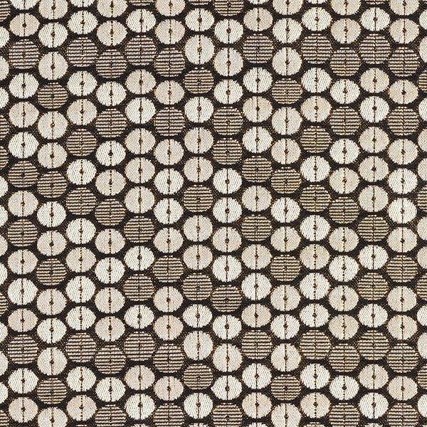 Jacquard d'habillement Lurex Cercles 10 mm – noir/or