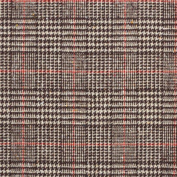 Tissu pour pantalon et costume Mélange laine Prince-de-galles – marron/terre cuite