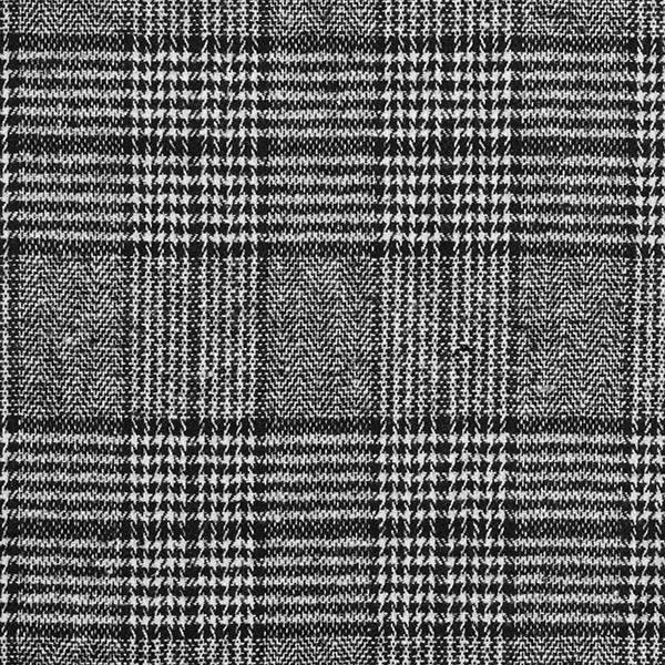 Hosen- & Anzugstoff Wollmix Glencheck – schwarz/weiss