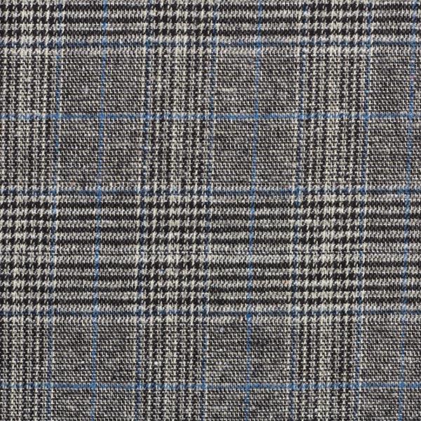 Tissu pour pantalon et costume Mélange laine Prince-de-galles – bleu clair