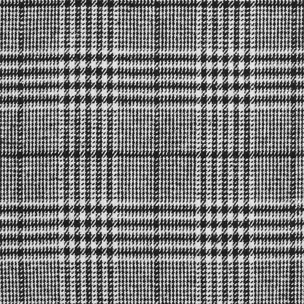 Tissu pour pantalon et costume Mélange laine Élégant Prince-de-Galles – noir/blanc