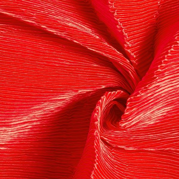 Satin Plissé Uni – rouge