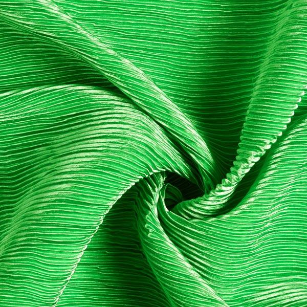 Satin Plissé Uni – vert herbe