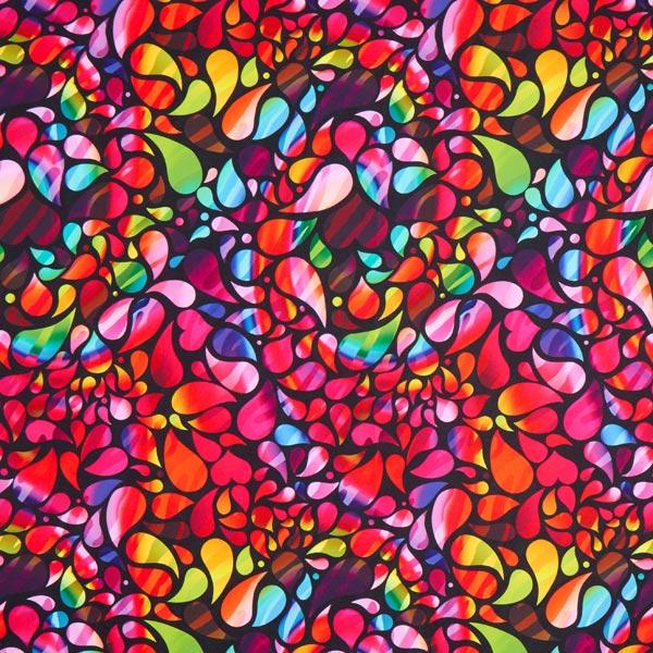 Tissu carnaval Imprimé numérique Motif rétro multicolore