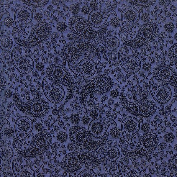 Futterstoff Jacquard Paisley – marineblau