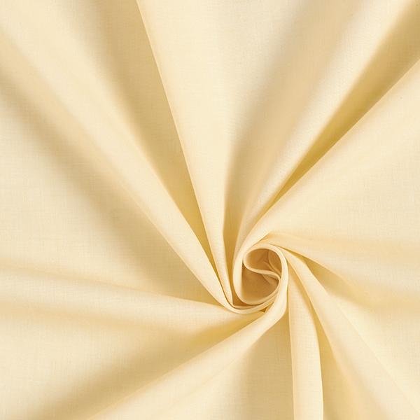 Batiste Tissu de coton mélangé Uni – jaune clair