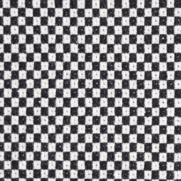Tissu de manteau Mélange laine Motif damiers – noir/blanc