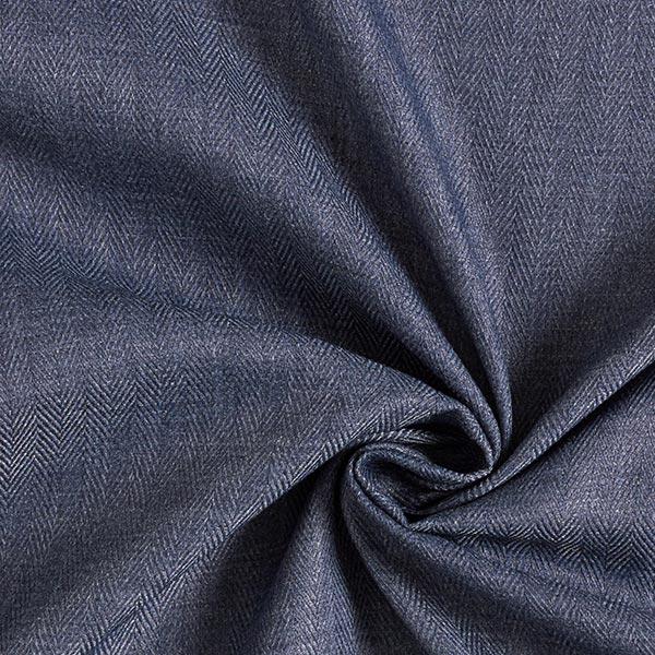 Hemdenstoff Fischgrat – jeansblau
