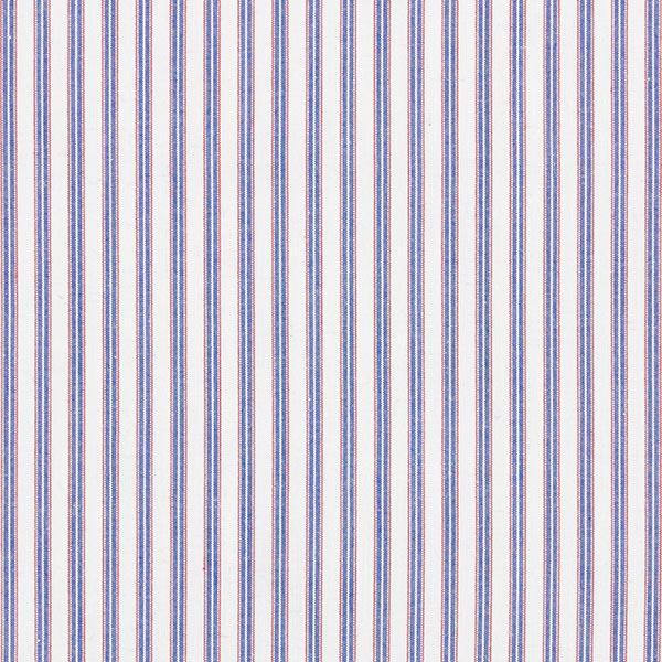 Tissu classique pour chemise Rayures – écru/bleu jean